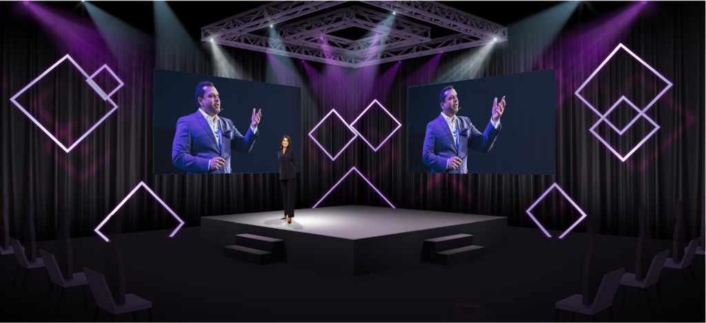 Hybrid Event Stage to Stage Experience